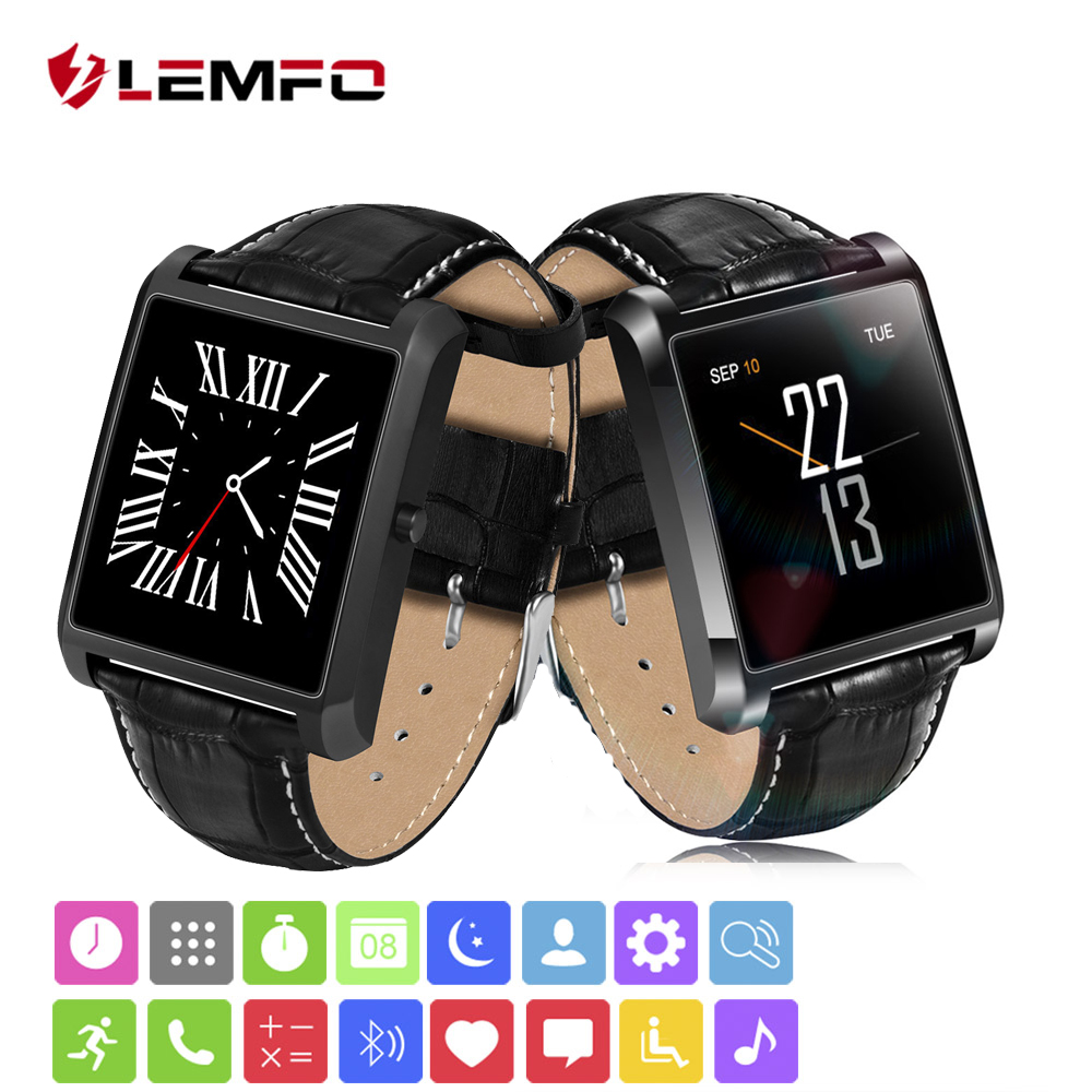 LEMFO Smart-watch MTK2502 Heart Rate Monitor fitness tracker syn Android iOS iPhone fashion 2018 lemfo Bluetooth Wearable Device
