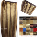 "16""-32"" 100% Brazilian Remy Hair Flip In/on Human Hair Extensions Halo hair #4/613 mix color  80g-220g 1pcs Set"