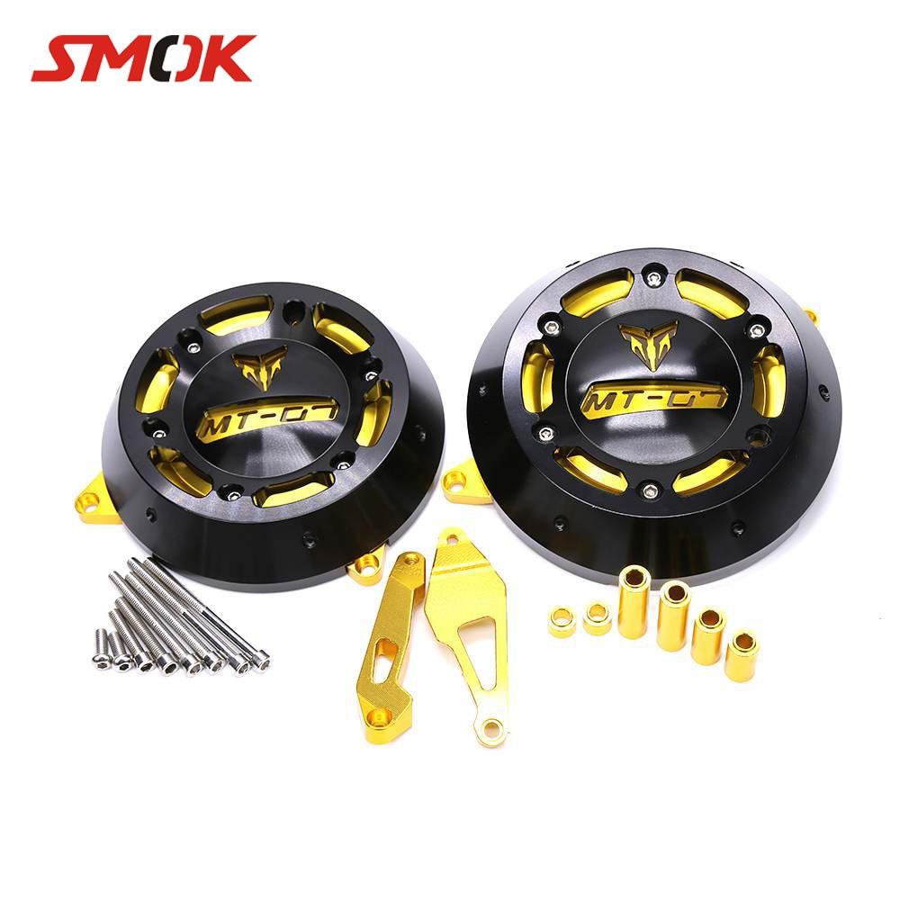 купить SMOK Motorcycle CNC Aluminum Alloy Engine Stator Case Guard Cover Protector For YAMAHA MT-07 MT07 MT 07 FZ-07 FZ 07 2014-2016 по цене 6490.44 рублей