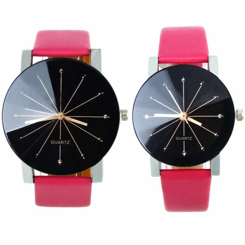 c9e40152f22f ... Saatleri 2019 Fashion Watches Women Men 2pcs Set 1Pair Men and Women  Quartz Dial Clock ...
