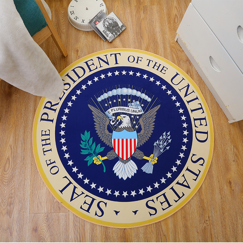 Carpets Rug Round Bath for Living Room Fashion Bedroom Non-slip chair floor Mats for Kid room Doormat American Eagle Round 60CM