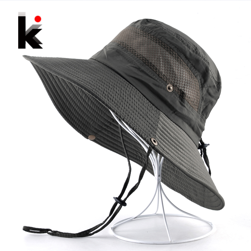 d9beceb8 Men's Summer Bucket hat Wide Brim Sun Caps Women Beach Anti-UV Visor Hats  For