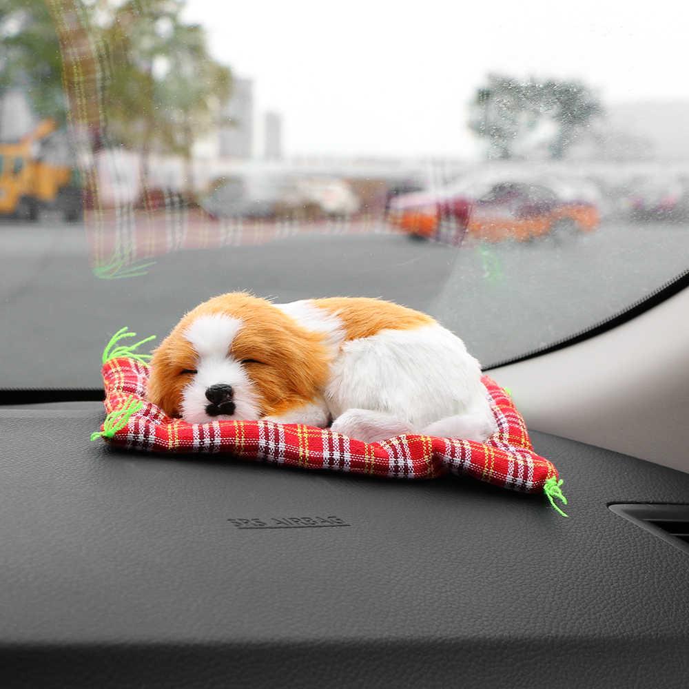 เครื่องประดับรถน่ารักตุ๊กตาสุนัขตกแต่งภายในรถยนต์ Sleeping Puppy ของเล่นเครื่องประดับน่ารักรถยนต์แดชบอร์ด
