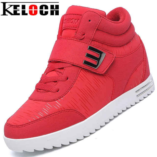 Keloch Women Casual Shoes 2016 Winter New Arrival Fashion High Quality Lace-Up Women Within Heighten Shoes