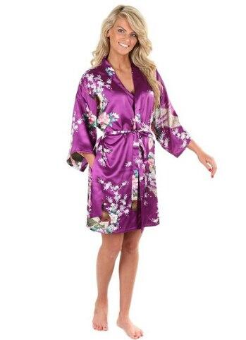 2015 silk kimono robe bathrobe women satin robe robe longue femme for women night sexy robes. Black Bedroom Furniture Sets. Home Design Ideas