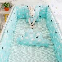 Cloud Decoration Crib Bedding Set For Girls And Boys Kids Cot Set Baby Bedding Bumper Sheet