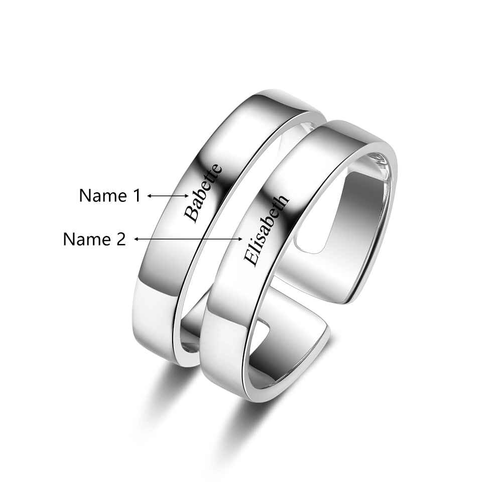 Sterling Silver Personalized Engagement Ring