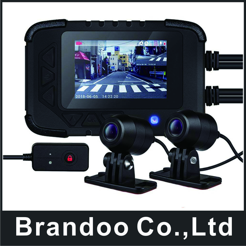 G-SENSOR 2CH Motorcycle DVR Dash Cam Full HD 1080P + 720P Front & Rear View Waterproof Motorcycle Black Box Camera Recorder new 3 0 tft motorcycle camera dvr full hd 1080p recorder dash cam daul waterproof black front rear recorder