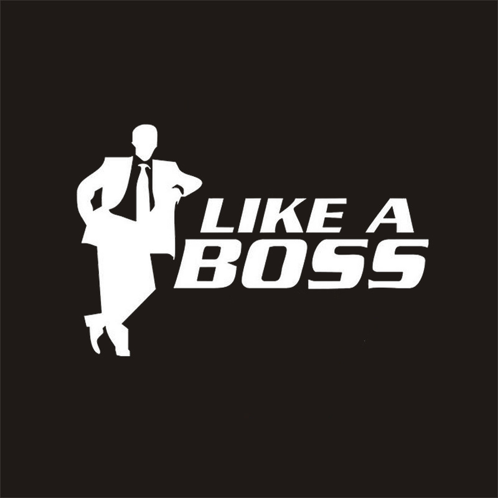 Funny Stickers And Decals LIKE A BOSS CEO Rear Trunk Window For Ford Focus 2 3 4 volkwagen golf 4 golf 7 5 6 polo passat
