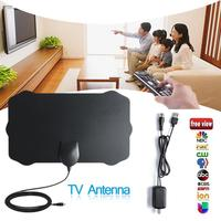 10pcs 120 Miles TV Antena 1080P Digital HDTV Indoor TV Antenna Amplifier Signal Booster Radius Surf Fox HD Mini Antennas Aerial