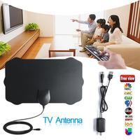 10pcs 120 Miles TV Antena 1080P Digital HDTV Indoor TV Antenna Amplifier Signal Booster Radius Surf Fox HD Mini Antennas Aerial