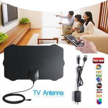 120 Miles TV Antena 1080P Digitale HDTV Innen TV Antenne Mit Verstärker Signal Booster Radius Surf Fuchs HD Mini antennen Luft(China)