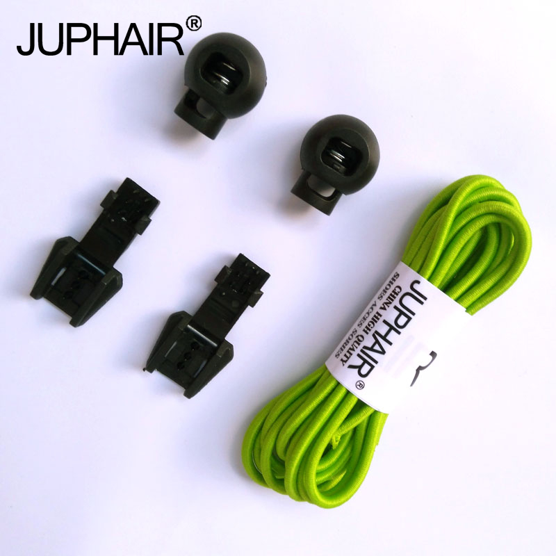 JUP 1-50 Pairs Grass Green Colored Shoe Laces Children Fashion Elastic Rubber Adjustable Shoelaces Fashion Lazy Shoelace Strings jup 50 pairs sneaker shoelaces skate boot laces outdoor sport casual multicolor bumps round shoelace hiking slip rope shoe laces