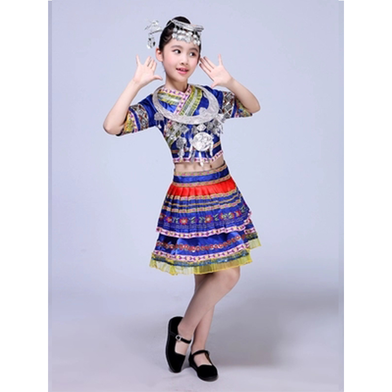 US $32 3 5% OFF|SONGYUEXIA New 2018 Girls Traditional Chinese Dance  Costumes Modern Dance Jazz Dance Skirt Performance Clothes For Kids-in  Chinese