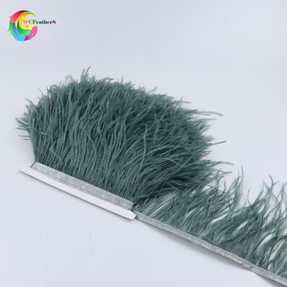 wholesale 10yard real Natural ostrich feather fringe trims Height 10 15cm DIY for skirts dresses apparel