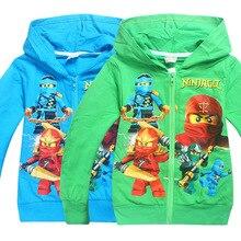 2017 Baby Girls Outwear Ninja Ninjago Hoodies Zip Suits Clothes Kids t shirts Cartoon Sweatshirts Kids bomber coat jackets