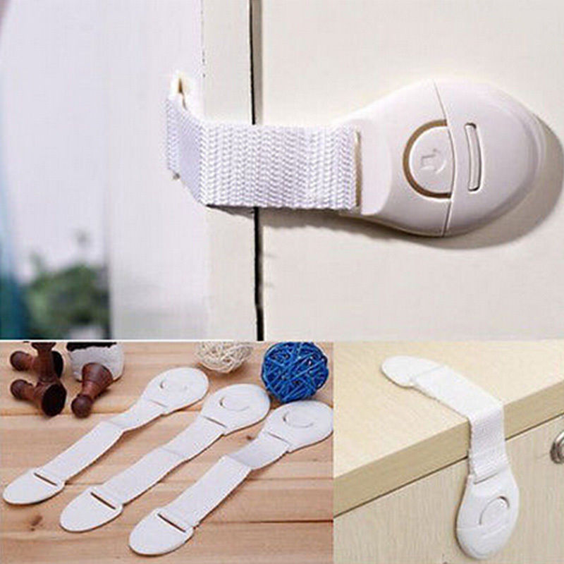 10 Pcs Children Safety Locks Cabinet Door Cupboard Toddler Safety Locks Baby Kids Drawer Locks Hot Selling Home Accessories