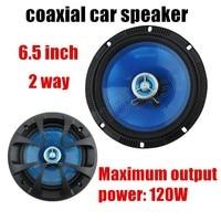 a pair Blue 6.5 inch Car speaker 2 way 2x120W Coaxial Car Speaker car audio speaker sound system Free Shipping hot sale