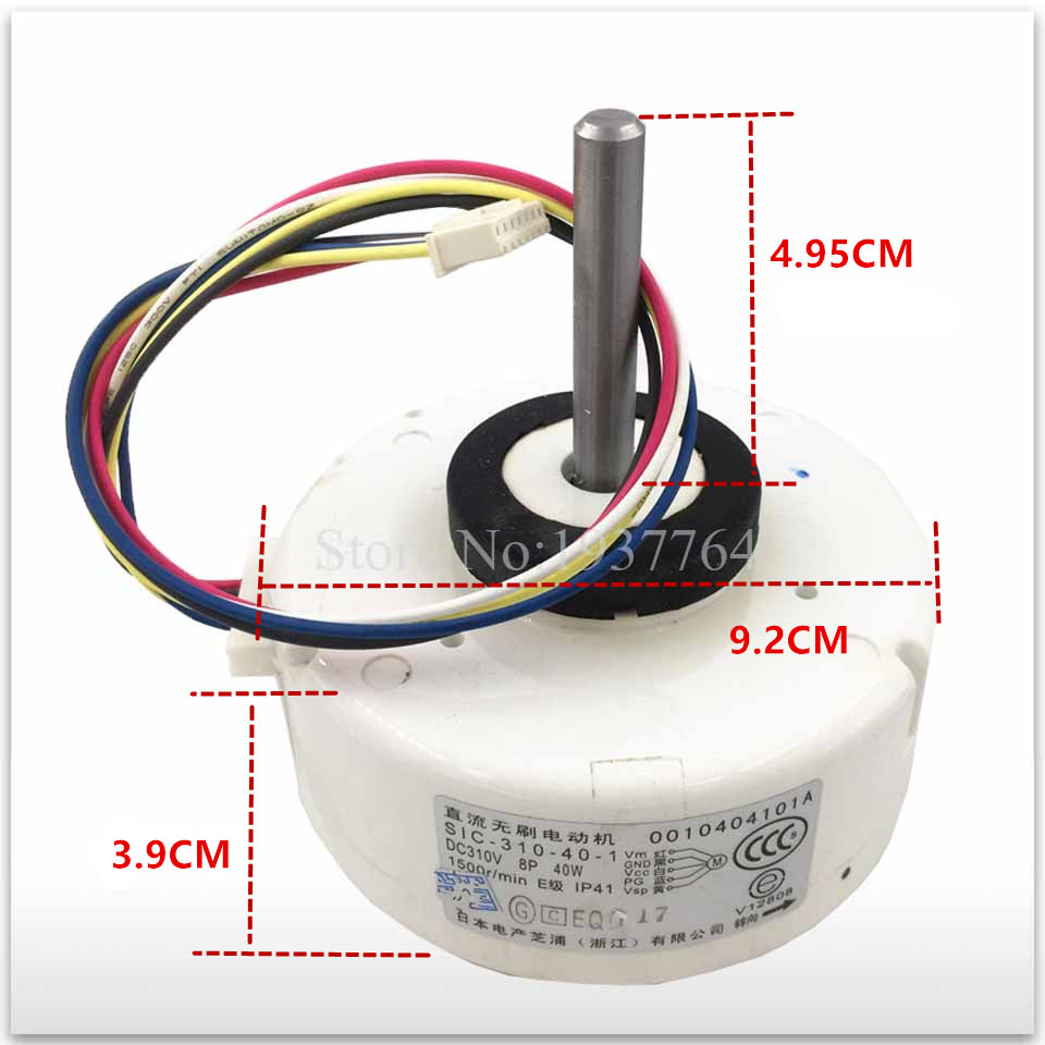 1PCS new for air conditioner motor SIC-310-40-1 310V 0010404101A Fan motor good working 100% new for air conditioning air conditioner fan motor dc motor sic 310 40 2 40w 0010403322a dc310v