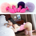 Small Silicone panties with anal plug tail rabbit tail anal sex toys butt plug,anal toy fox tail