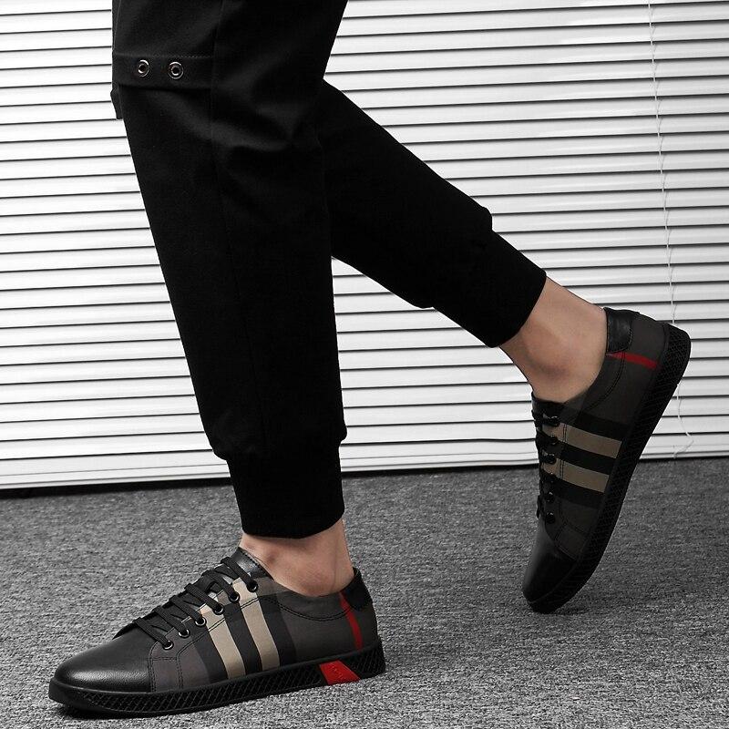 Véritable cuir chaussures décontractées en plein air mode hommes baskets oxfords printemps à lacets respirant confortable hommes chaussures mocassins k3 - 6