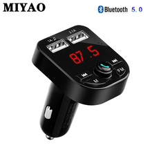 Bluetooth 5.0 Car Kit Handsfree Wireless FM Transmitter 3.1A Quick Charge Dual USB Charger Support U Disk TF Card Car MP3 Player все цены