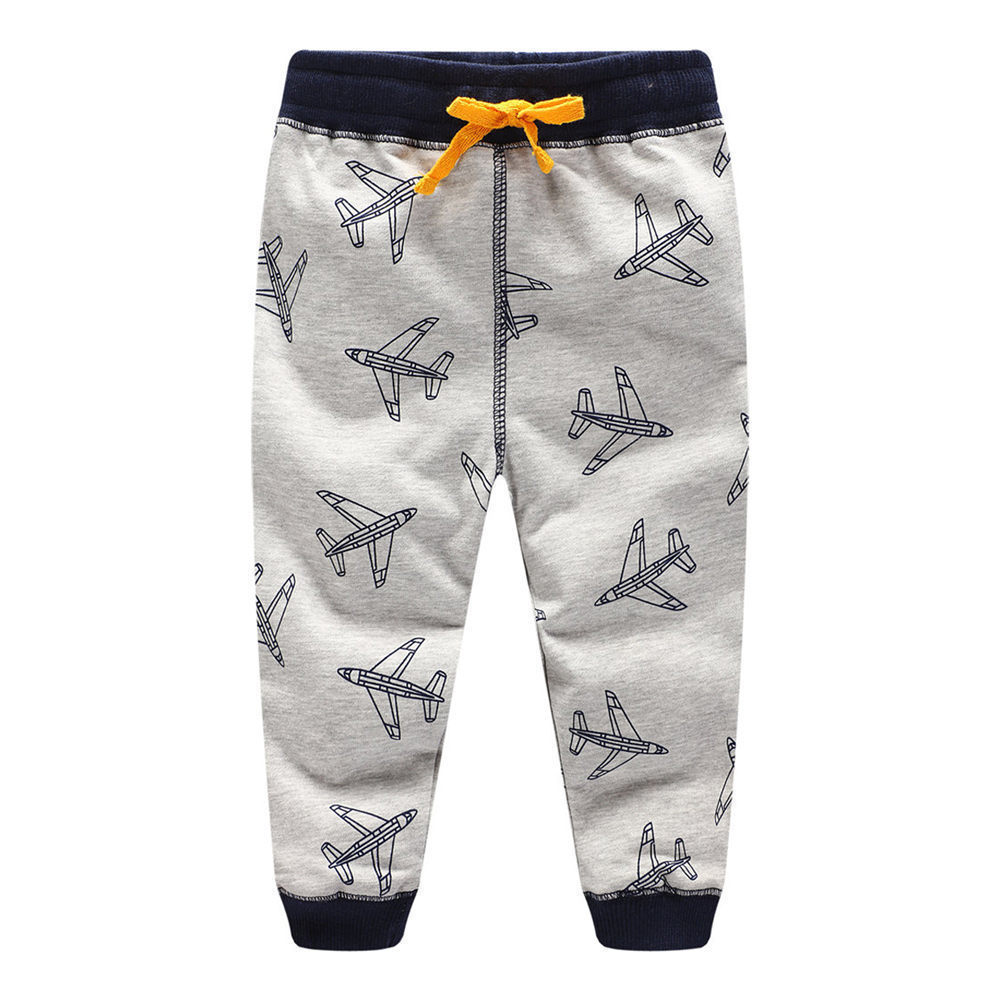 Jumping Meters 2018 Plane Boys Cotton Pants Children Trousers brand Print Autumn Winter Baby Clothes Sweaterpants Kids Leggings jumping meters boys winter clothes children clothing sets animal tops pants 100% cotton 3017 brand kids tracksuit boys outfits