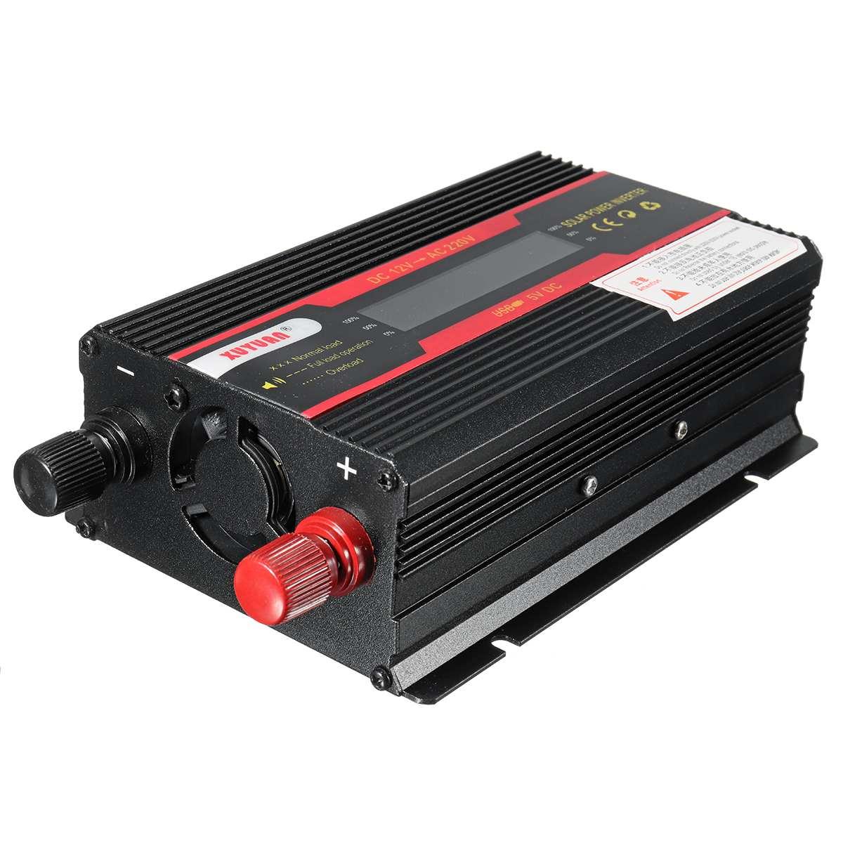 Car Inverter 12V 220V 6000W Pe ak Power Inverter Voltage Convertor Transformer 12V/24V To 110V/220V Inversor + LCD Display 21