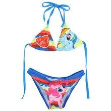 2016 Two-piece My Little Horse Girls Kids Charm Swimwear Swimsuit t Age 2-10Y