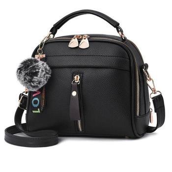 Сумка-мессенджер с кисточками для женщин, женская сумка из искусственной кожи, Бостонская сумка-мессенджер с помпонами для волос, женская с...