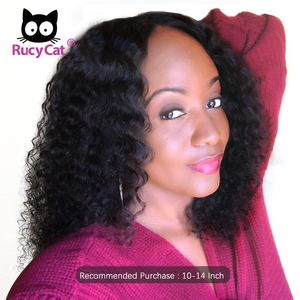 Rucycat Brazilian Lace Front Human Hair Wigs With Preplucked Hairline Curly Lace Front Bob Wigs With Bady Hair For Black Women(China)
