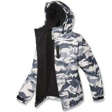 Высококачественная одежда премиум-класса «Southplay», зимнее водонепроницаемое пальто для лыжного сноуборда, куртка-белый камуфляж, военный