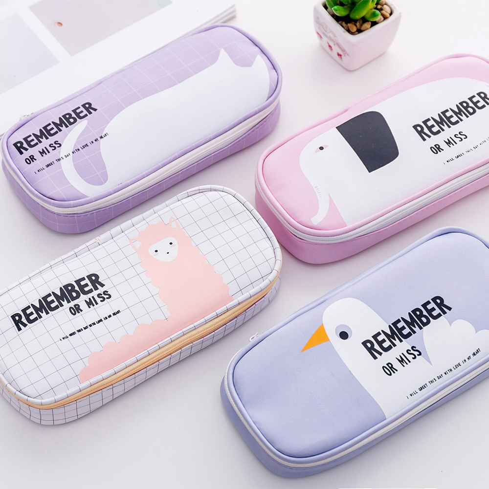 Kawaii Animal Pencil Case Multi-function Stationery Box Large-capacity Pencil Bag School School Supplies Stationery Shop