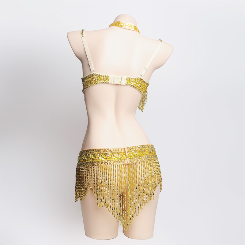 New Hot Shining Belly dance Costume Sexy Bellydance Carnival set Bellydancing Clothes Club Night Performance Wear 0015:BRA&Belt