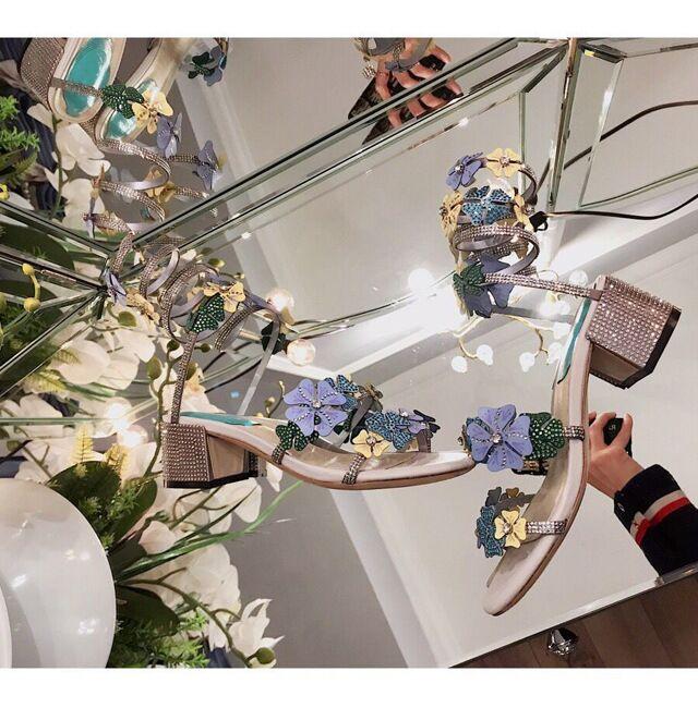 Zapatos Las Show Cruce Sandalias as Sexy Femenina Vestir Mujeres As Cristal De Alto Tachonado Tacón Flor Show Sandalia Rhinestone Verano xHOHq7wgzX