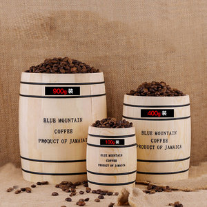Image 2 - Coffee Beans 0ak Barrel Storage  Airtight Wooden Container For Coffee Beans or Grounds  Kitchen Box