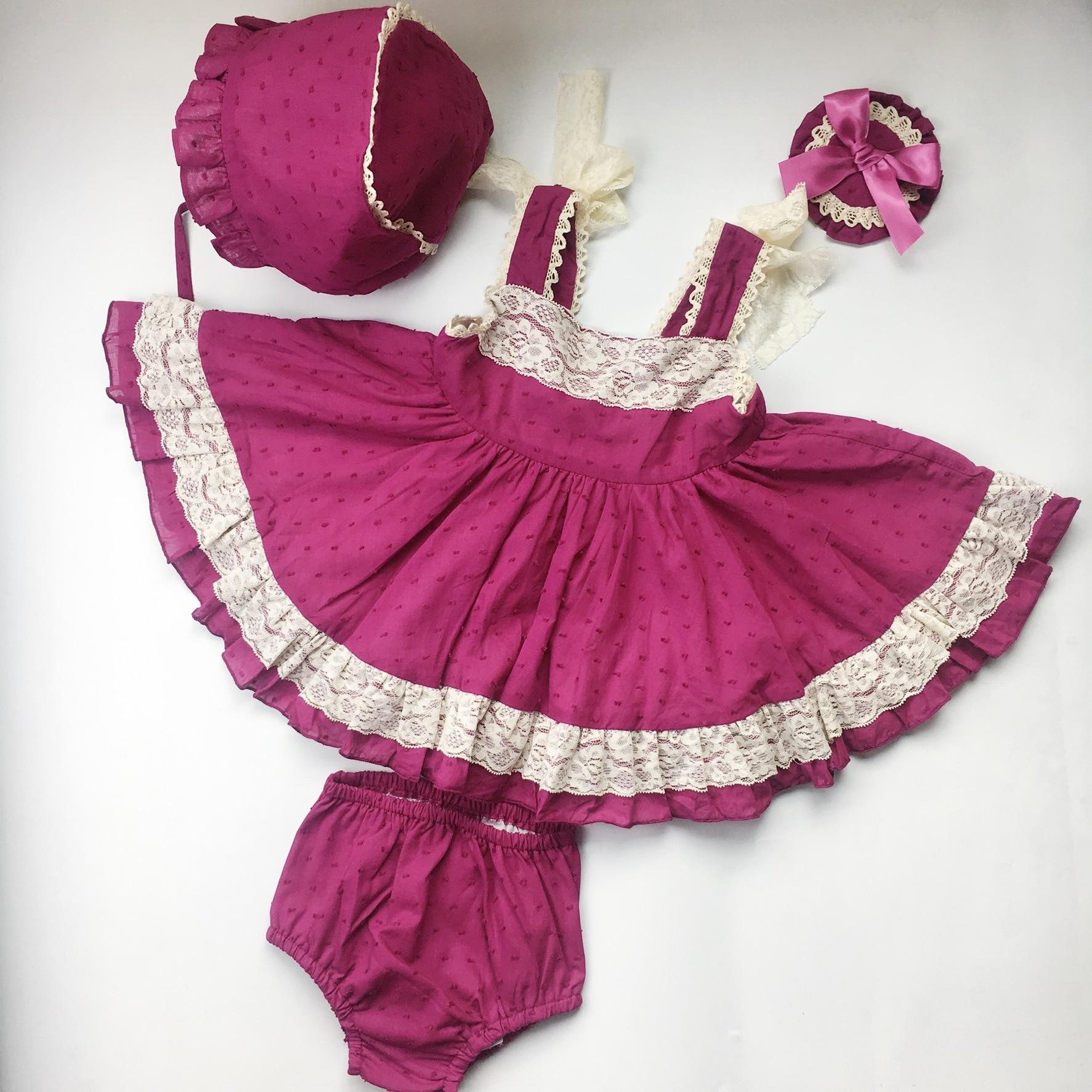 2019 bébé baptême robes filles 1st anniversaire princesse dentelle robe infantile Boutique vêtements enfants espagnol princesse baptême robe