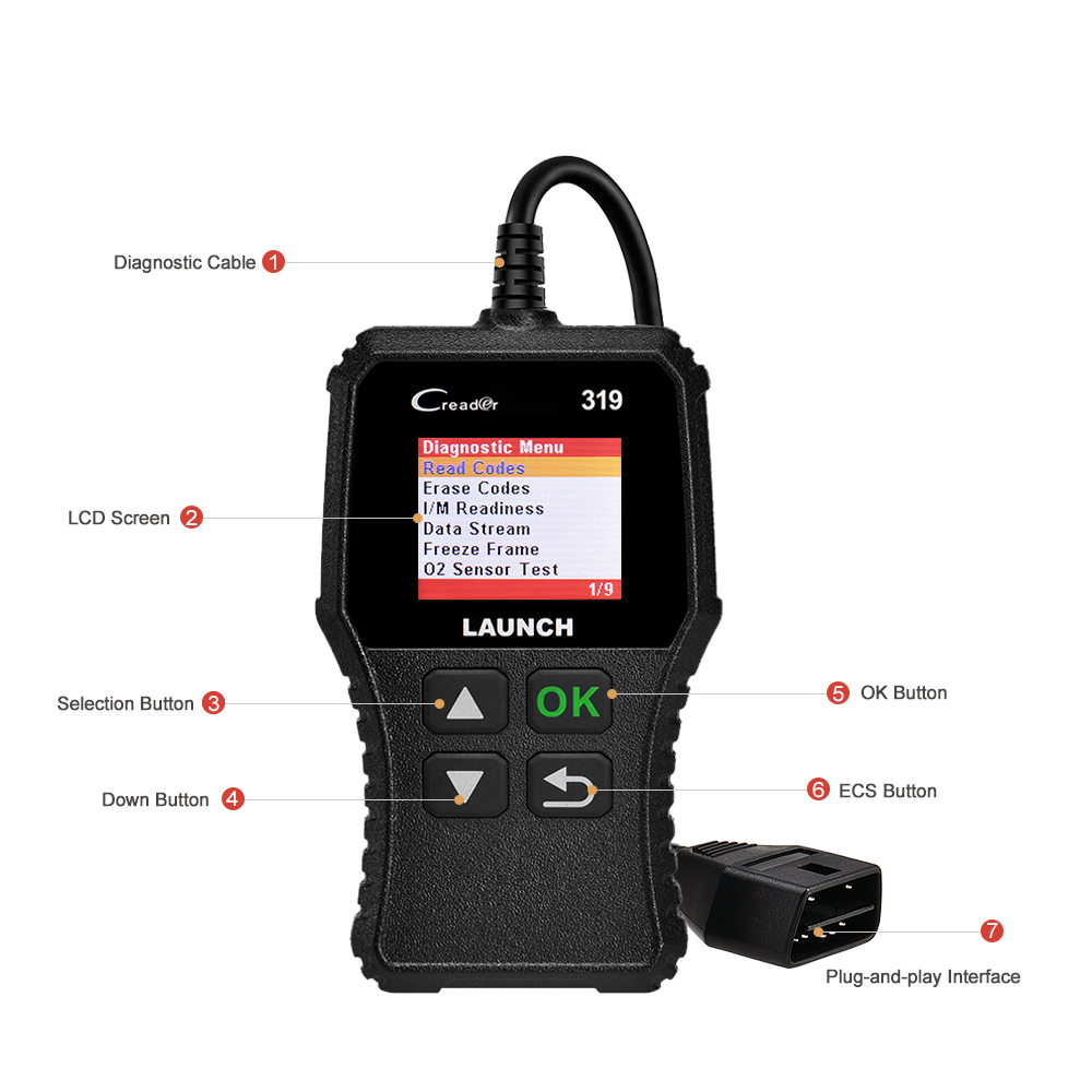 LAUNCH X431 CReader 319 Full OBD2 EOBD Code Reader Scanner 4