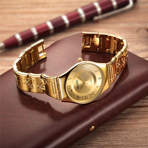 Image 3 - WEIQIN الفاخرة العلامة التجارية الذهبية ساعات النساء أزياء رقيقة جدا ساعة كوارتز امرأة أنيقة فستان السيدات ساعة Montre فام