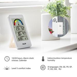 Image 2 - FanJu FJ3356 Digital Thermometer Hygrometer Weather Station Wall Clock Wireless Sensor Alarm Comfort Pointer Display Table Watch
