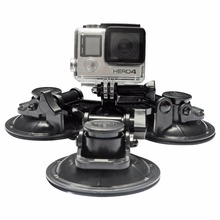 SHOOT Large/Small Size Car Window Suction Cup Mount for GoPro Hero 5 4 3 HERO5 Session SJCAM SJ4000 SJ5000 Xiaomi Yi 4K Camera