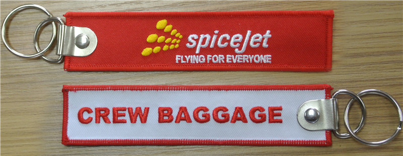 US $118 8 |Spicejet Flying For Everyone Crew Baggage Fabric Embroidery  Pilot Key Chains-in Key Rings from Automobiles & Motorcycles on  Aliexpress com