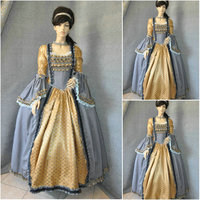Brown Vintage Costumes Victorian Dresses 1860s Civil War Southern Belle dress Marie Antoinette dresses US4-36 C-670