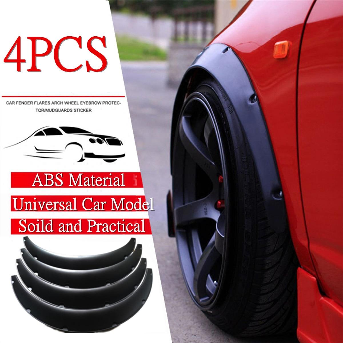 4Pcs 2/'/'//50mm Universal Car Body Fender Flares Flexible Extra Wide Wheel