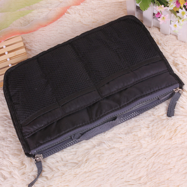 Organizer Insert Bag Women Nylon Travel Makeup Cosmetic Handbag Tote 3