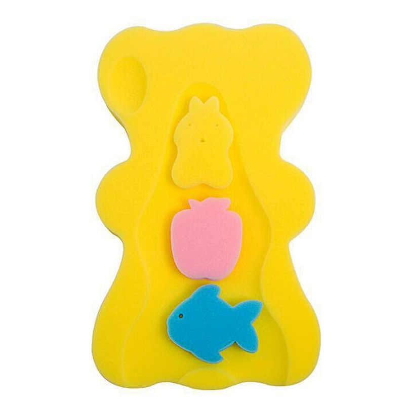ベビーバスマットコンフォート漫画ノンスリップスポンジクッション新生児乳児の入浴パッドベビーケアおもちゃ折りたたみ安全ネット浴槽