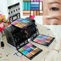 Fashion 27 colors Glitter Shimmer Powder Earth Smoky Eyeshadow Palette Beauty Cosmetic Kit