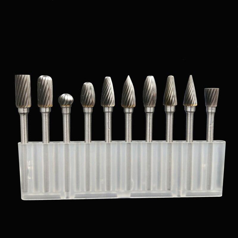 Tungsten Carbide 3mm Schacht Rotary File Elektrische Grinder Accessoires Houtbewerking Carving Graveren Snijgereedschap Metalen Braam Boor