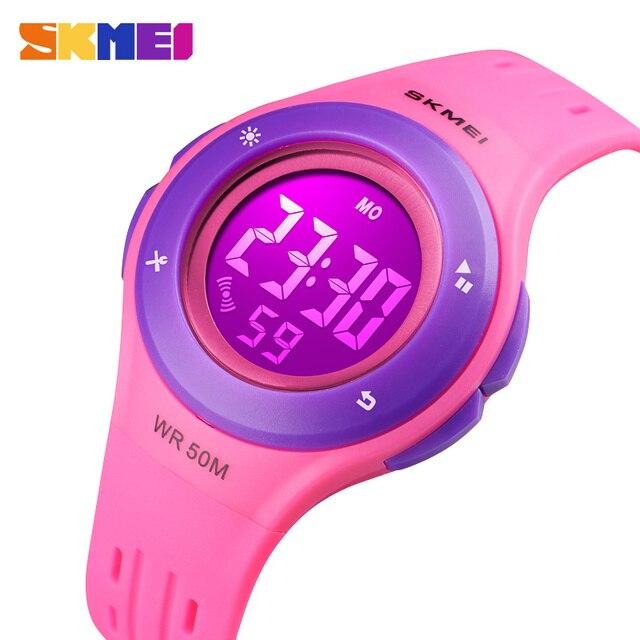 SKMEI Waterproof Children Watch Boys Girls LED Digital Sports Watches Plastic Ki