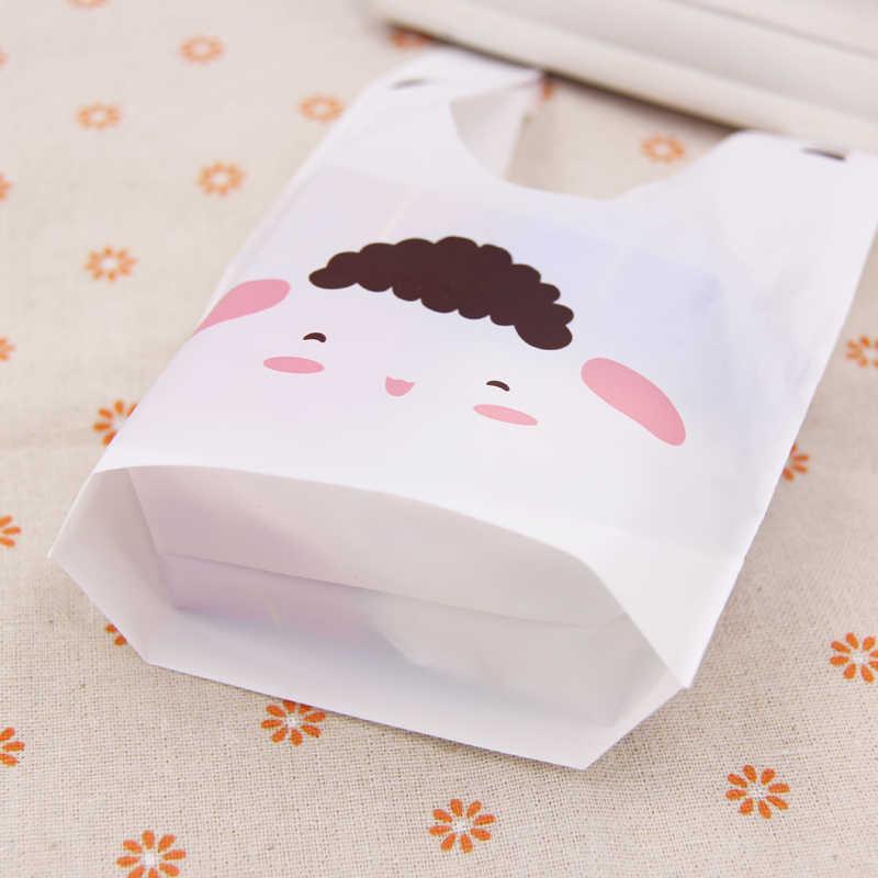 10/50 ชิ้น/ล็อตน่ารักกระต่ายหูถุงคุกกี้ถุงพลาสติก & Candy ของขวัญถุงสำหรับบิสกิตขนมขบเคี้ยวแพคเกจเหตุการณ์อุปกรณ์